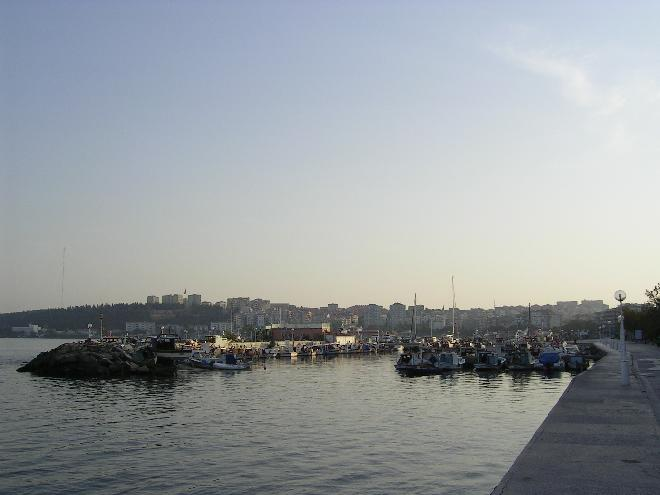 Çannakale shipyard at morning