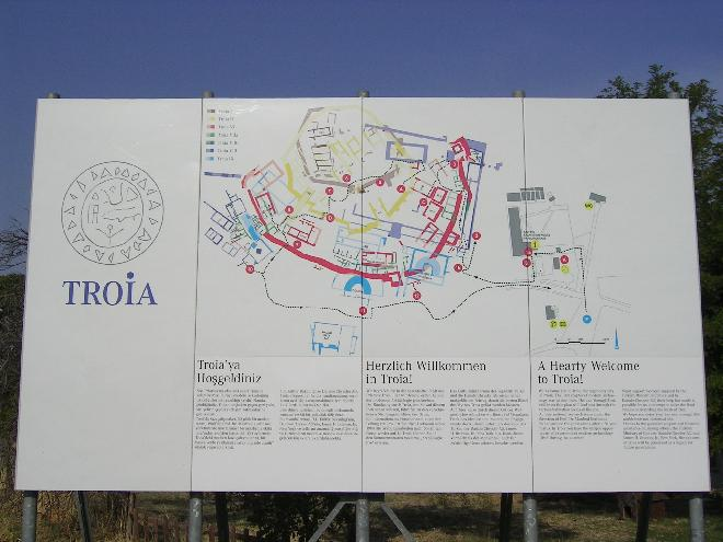 Troy visitor sign