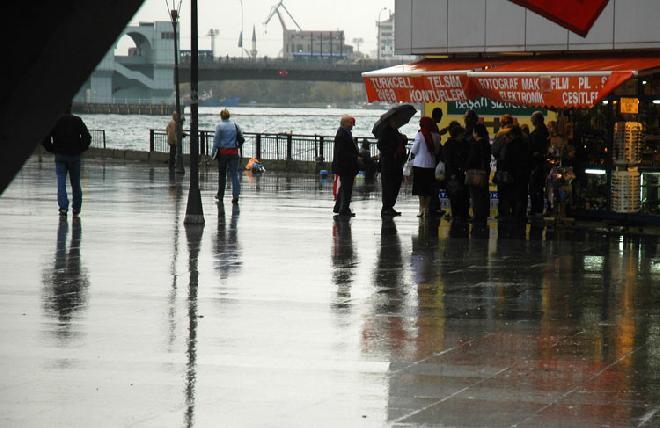 Istanbul in rain