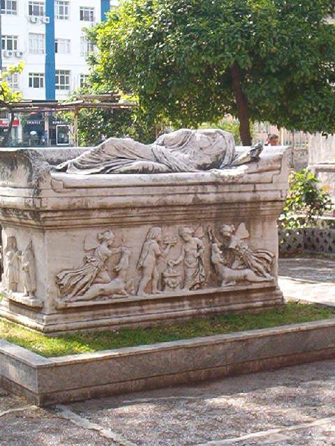 Tomb in museum garden