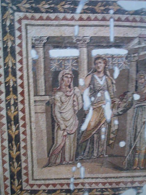On the wall of the Mosaic Museum