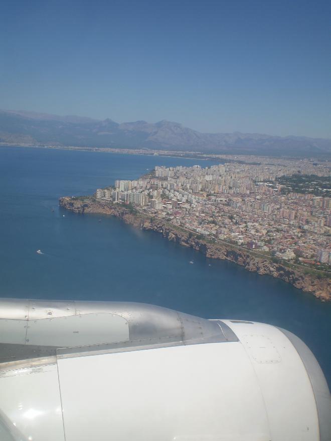 Turkish Meditteranean from plane