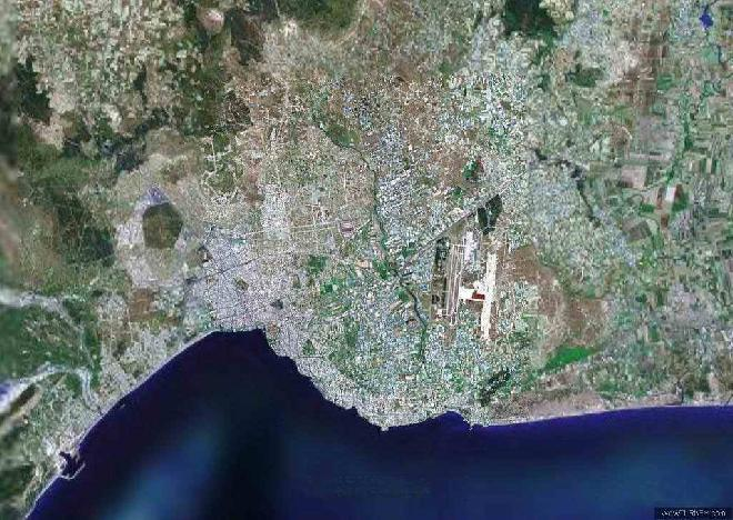 Antalya from satelite