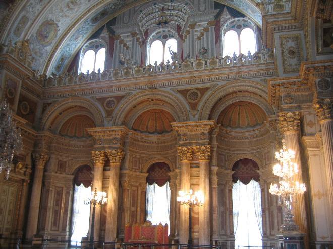 Inside of Dolmabahçe Sarayı