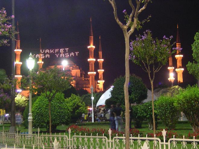 Sultan Ahmet Mosque at evening 1