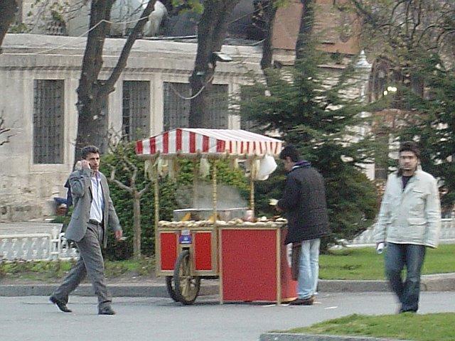 Selling Corn in Sultanahmet