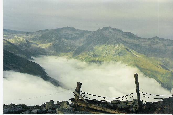 Clouded mountains