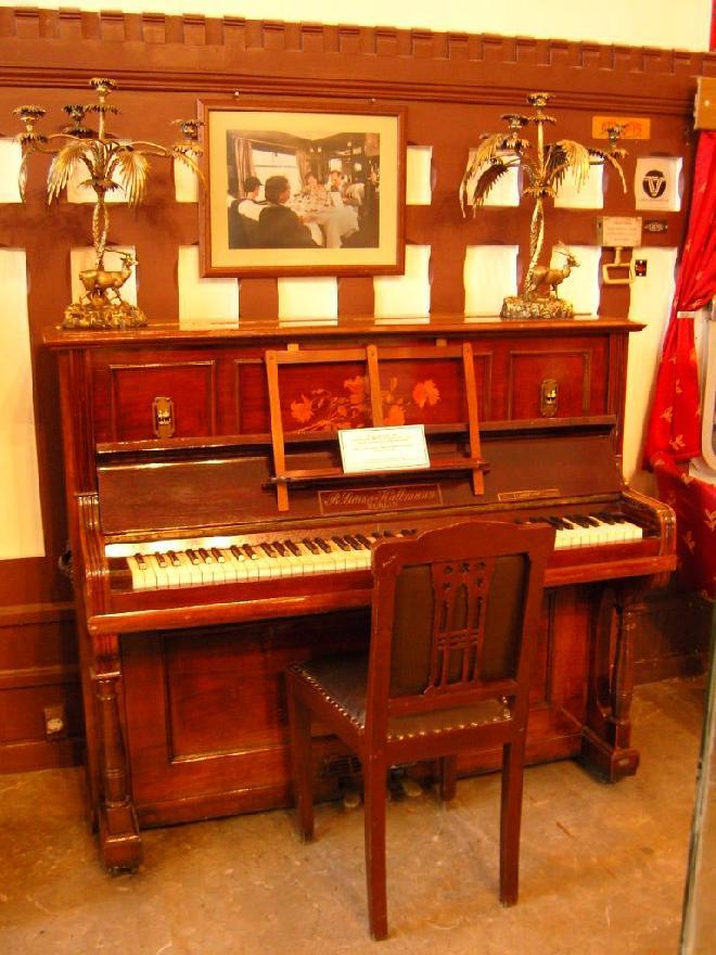 Antique Piano in Railway Museum