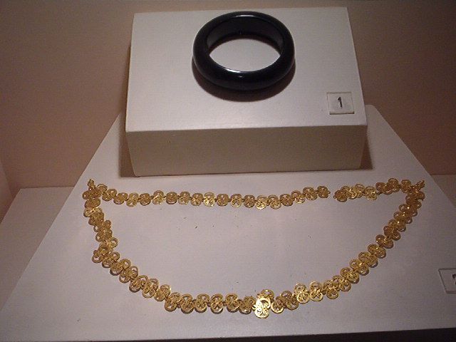 Jewellery from an old sarcophagus