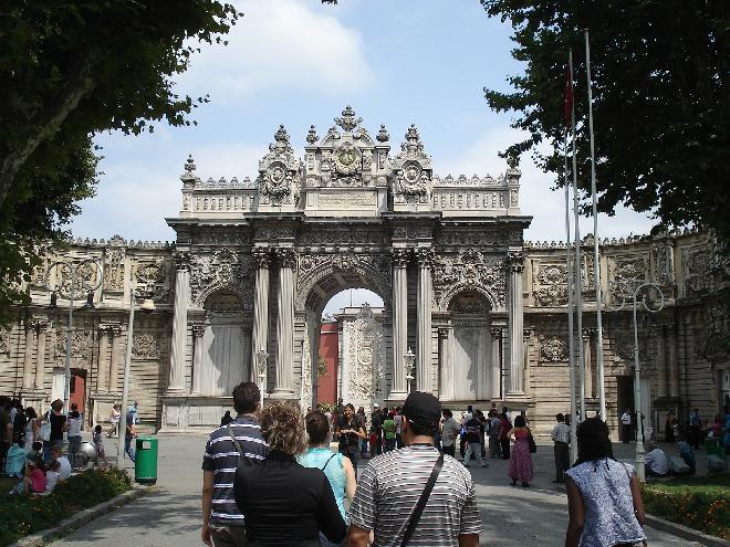 Main Gate at Dolmaphce Palace