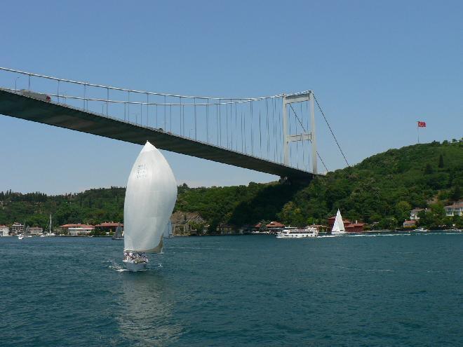 İstanbul Bridge with a sail