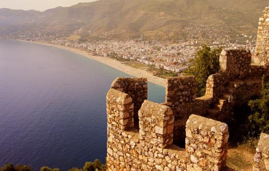 Alanya from the Seljuk built castle