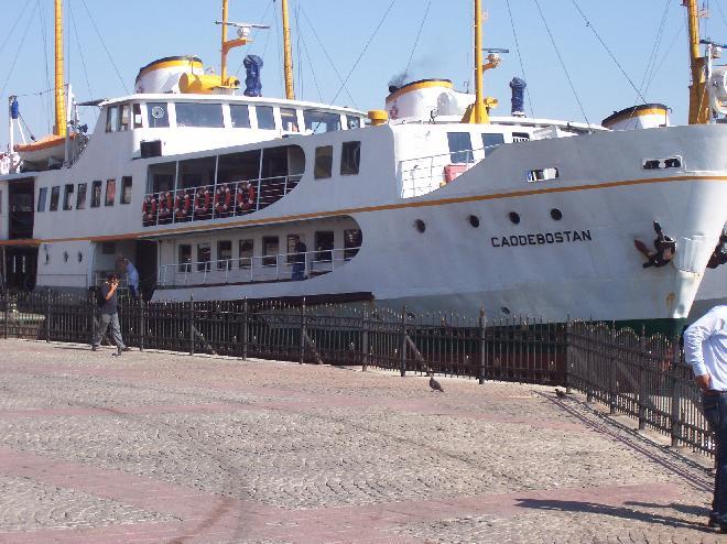 In harbour in Istanbul - ship Caddebostan