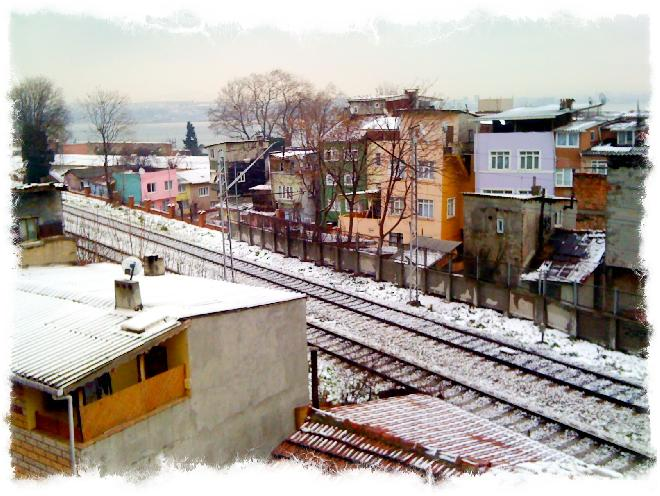Snowy morning in Sultanahmet