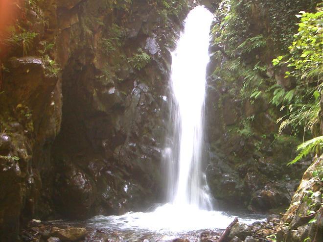 Waterfall in Black Sea region