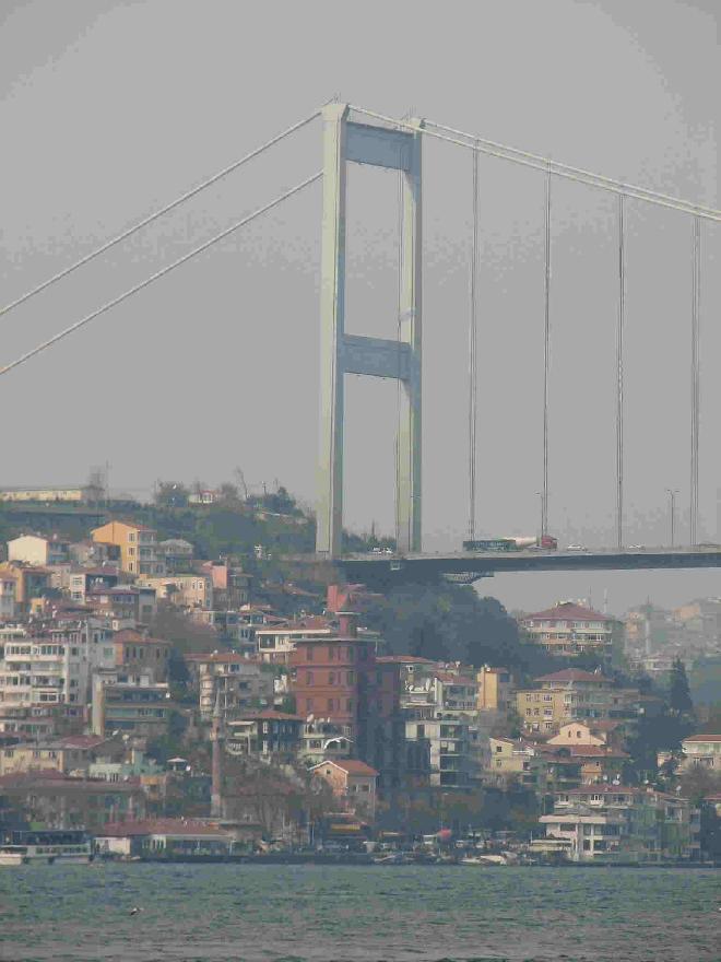 Fatih Sultan Mehmet Bridge from the Bosphorus