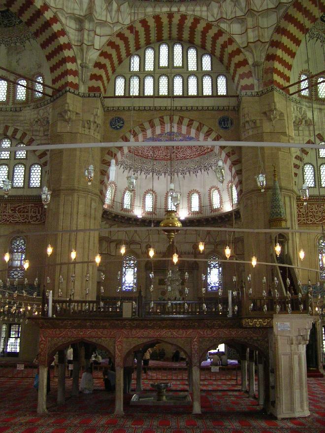 The inside of Selimiye Camii