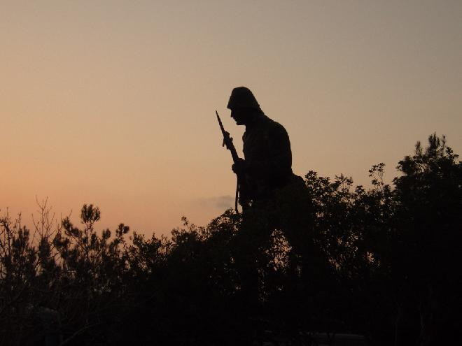 Soldier statue at Gallipoli