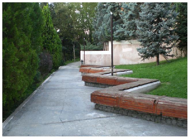 Zig zag benches