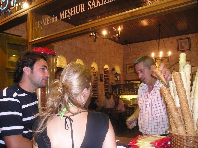 Famous damla sakizli icecream of Çeşme