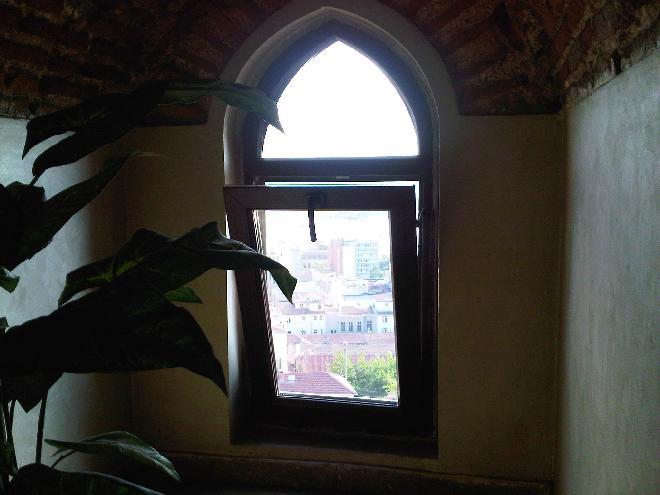 Windows inside  the Galata Tower